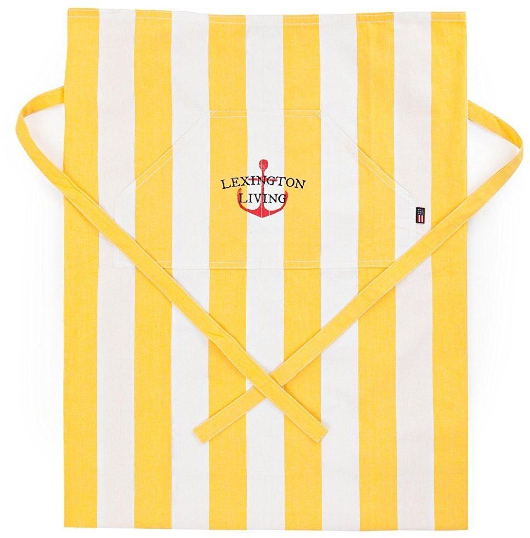 Lexington 2011620068 fartuch, bawełna, żółty i biały, 85 x 80 x 1 cm