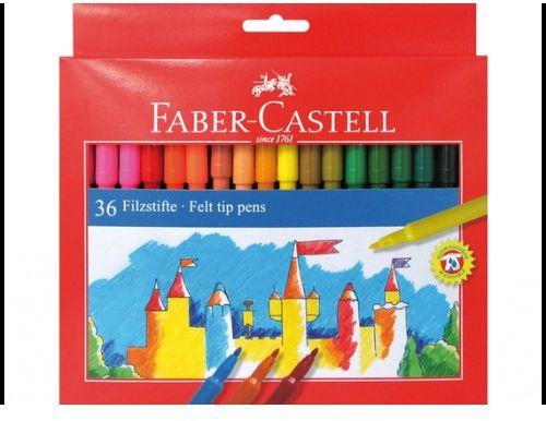 Flamastry Zamek FABER CASTELL 36 kolorów 554236