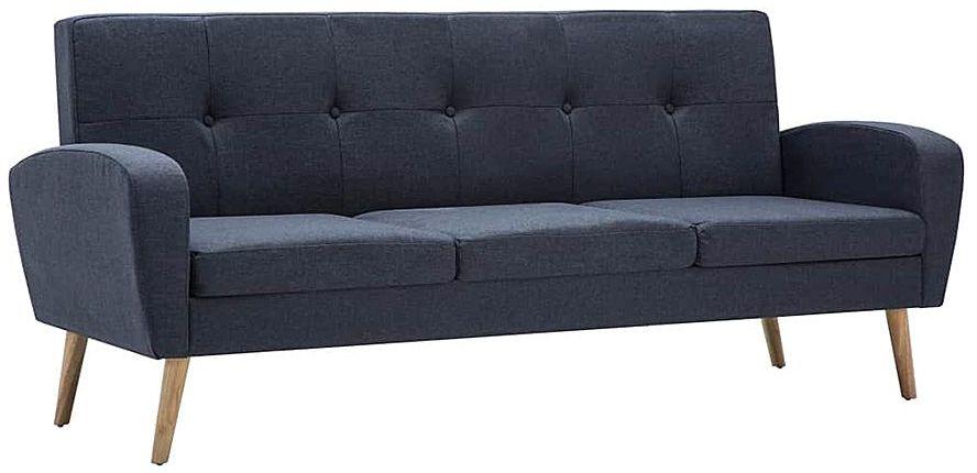 Trzyosobowa sofa pikowana ciemnoszara - Anita 3Q