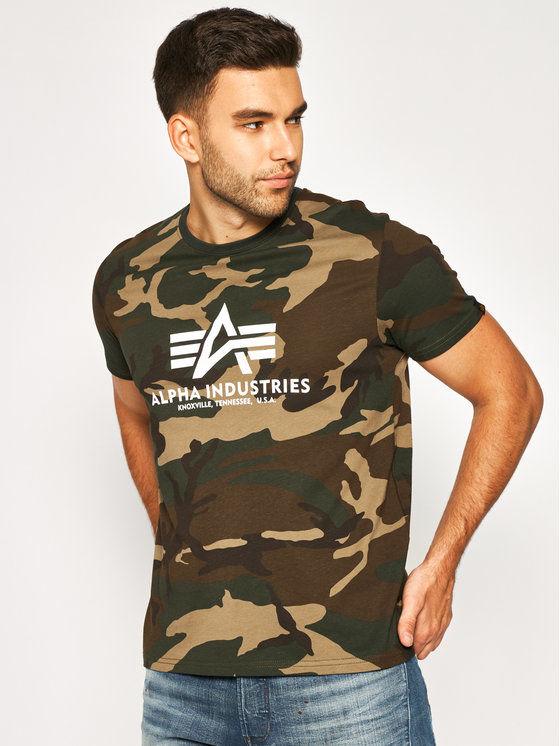Alpha Industries T-Shirt Basic 100501C Zielony Regular Fit