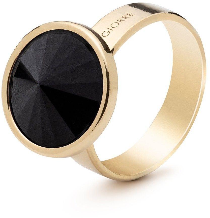 Srebrny pierścionek z naturalnym kamieniem - ciemnym, srebro 925 : Kamienie naturalne - kolor - tygrysie oko, ROZMIAR PIERŚCIONKA - 15 UK:P 17,33 MM, Srebro - kolor pokrycia - Pokrycie żółtym 18K