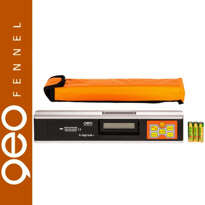 Pochyłomierz elektroniczny S-Digit multi plus z laserem geoFENNEL