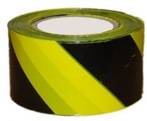 Taśma ostrzegawcza żółto-czarna 70mm x 200m do odgradzania