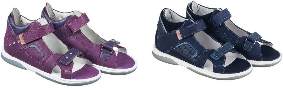 Szkolne sandały Memo - BUTY profilaktyczne z podeszwą diagnostyczną (CAPRI)