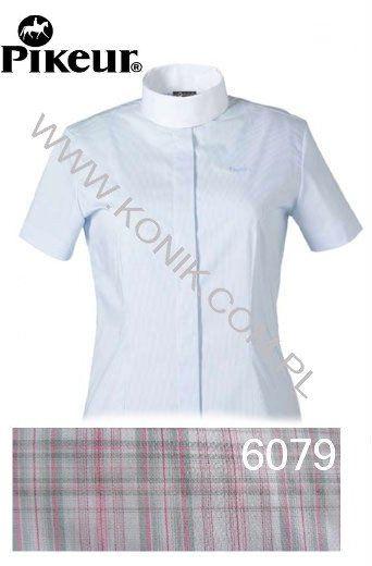 Koszula konkursowa damska - PIKEUR - różowa kratka