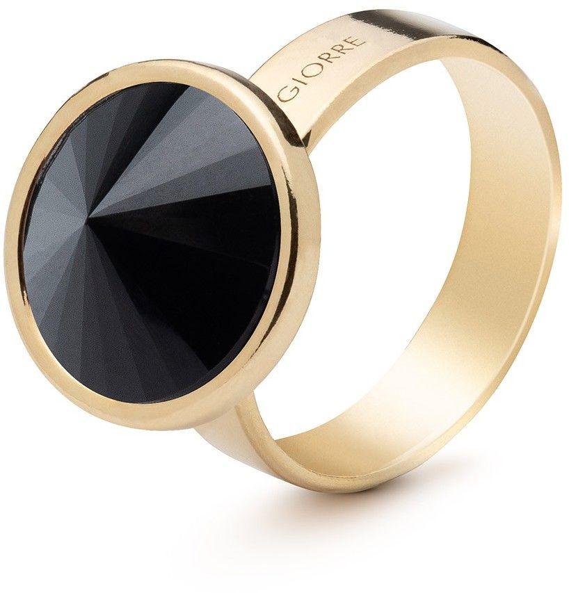 Srebrny pierścionek z naturalnym kamieniem - ciemnym, srebro 925 : Kamienie naturalne - kolor - tygrysie oko, ROZMIAR PIERŚCIONKA - 13 UK:N 16,67 MM, Srebro - kolor pokrycia - Pokrycie żółtym 18K z