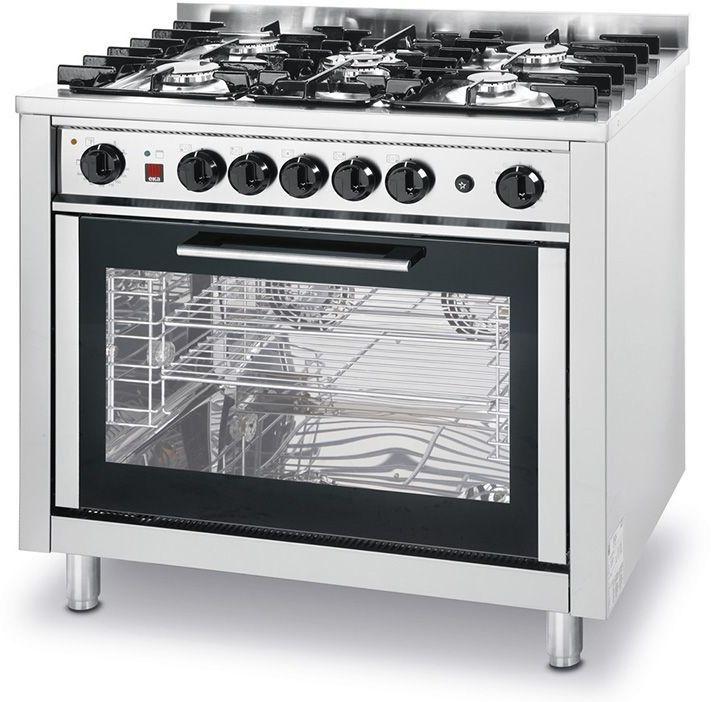Kuchnia gastronomiczna gazowa 5-palnikowa z piekarnikiem