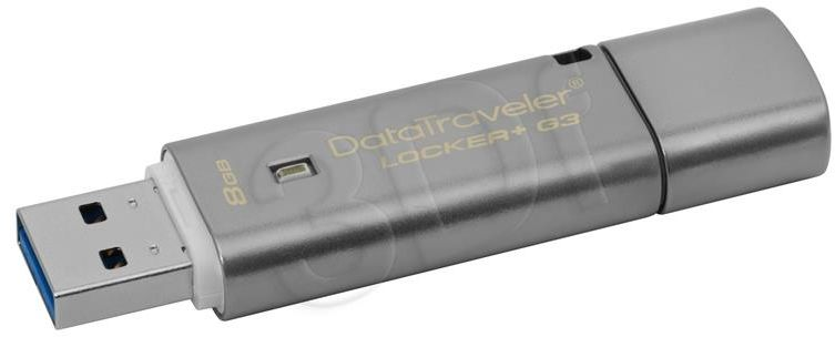 Pendrive Kingston DTLPG3/8GB (8GB; USB 3.0; kolor szary)