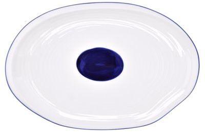 Półmisek DUKA KROG 35x23 cm biały granatowy porcelana