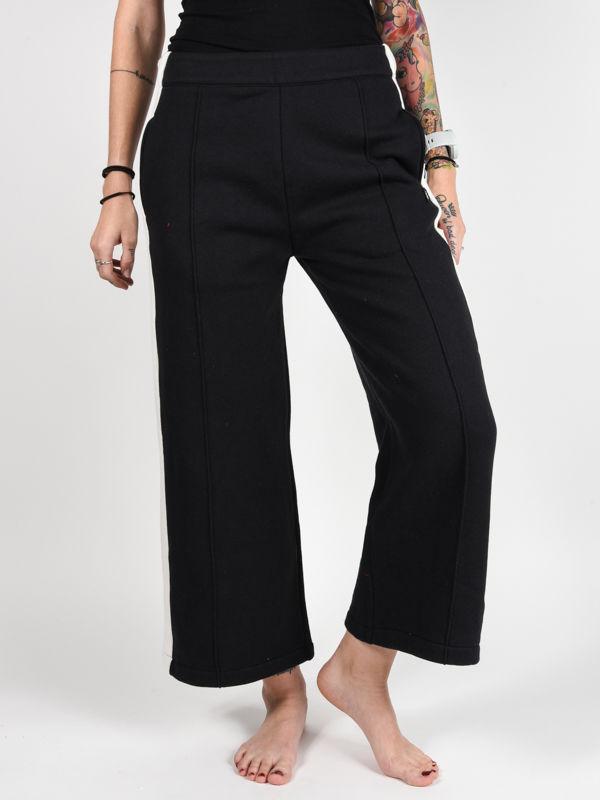 Element PRIMO FLINT BLACK spodnie lniane kobiety - M