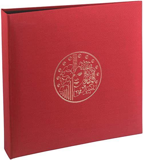 Exacompta Coin Album/segregator - czerwony