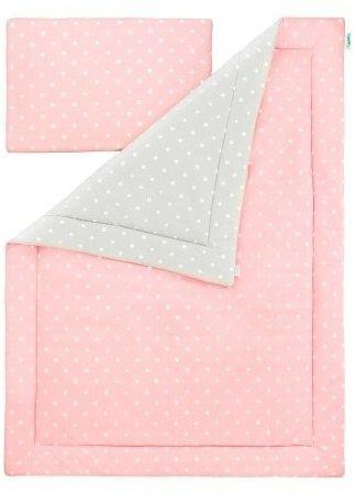 Pościel 100 x 135 - lovely dots pink & grey