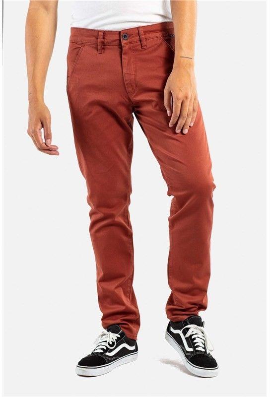 spodnie REELL - Flex Tapered Chino Red Brown (190)