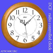 Duży zegar drewniany sterowany radiowo #1