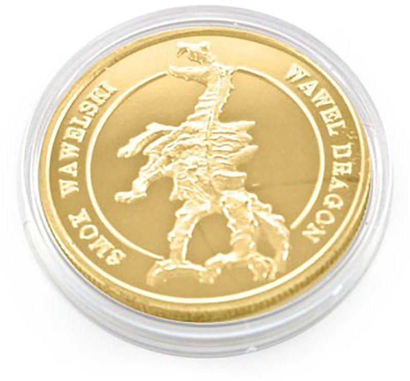 Moneta Smok wawelski złota