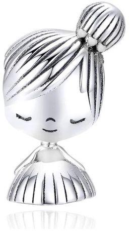 Rodowany srebrny charms do pandora dziewczynka w sukience girl srebro 925 NEW131