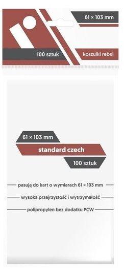 Koszulki na karty Rebel (61x103 mm) Standard Czech 100 sztuk