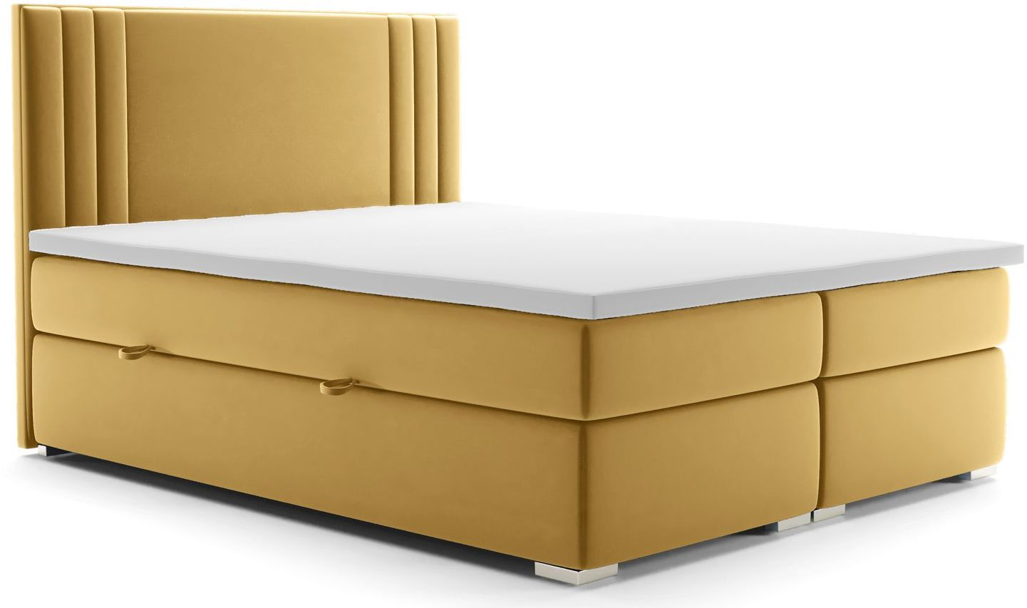 Podwójne łóżko boxspring Felippe 180x200 - 58 kolorów