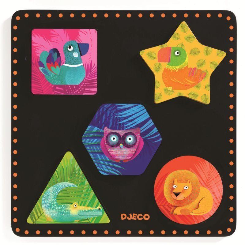 Drewniane puzzle Geochic DJ01050-Djeco, zabawki edukacyjne