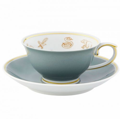 Filiżanka ze spodkiem Gipsy Tea szara Vista Alegre
