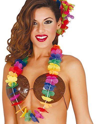 Fiestas Guirca 18409 - Hawajskie naszyjniki wielokolorowe (12 sztuk)