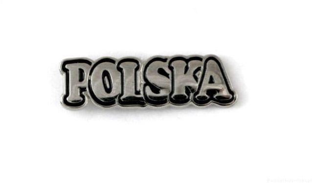 "Napis ""POLSKA"" - przypinka"