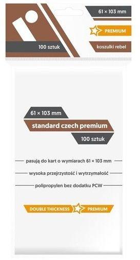 Koszulki na karty Rebel (61x103 mm) Standard Czech Premium 100 sztuk