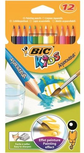 Kredki akwarelowe BIC Aquacouleur 12 kolorów 8575613
