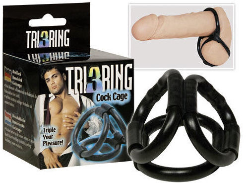 Seven Creations Tri Ring Cock Cage - Cock Ring