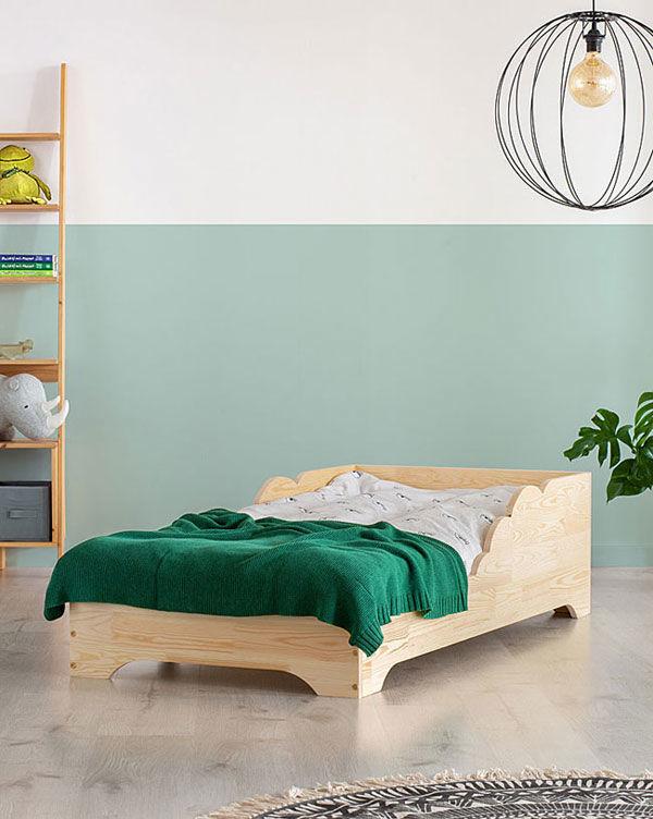 Drewniane łóżko dziecięce Lexin 12X - 21 rozmiarów