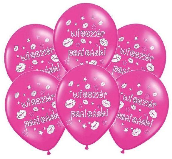Różowe balony na Wieczór Panieński 30cm 6 sztuk SB14M-240-006-6