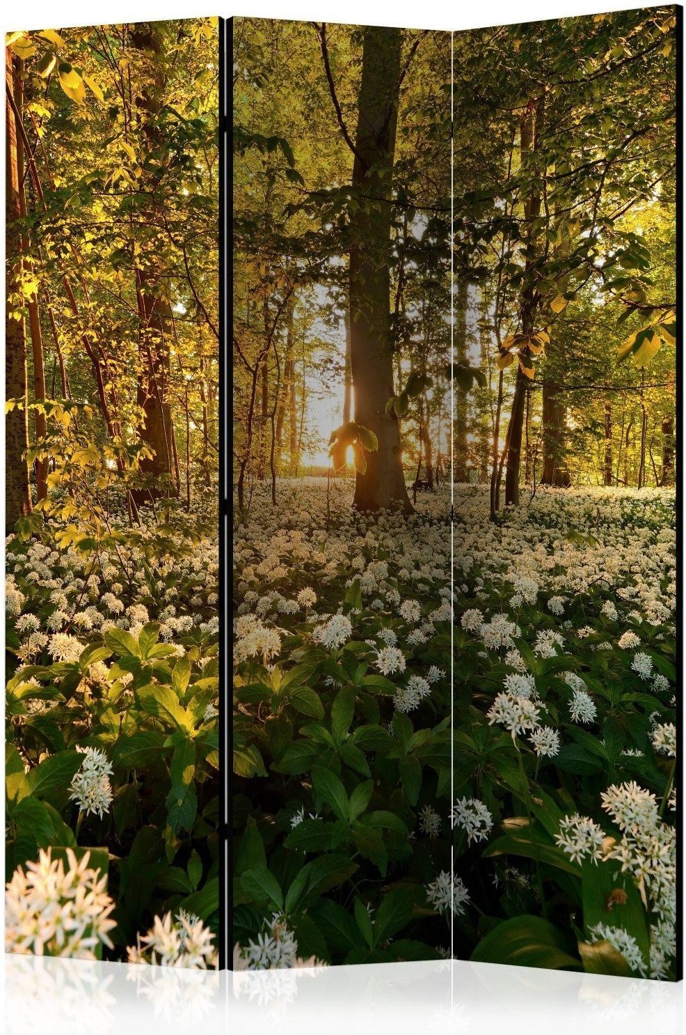 Parawan 3-częściowy - leśna flora [room dividers]