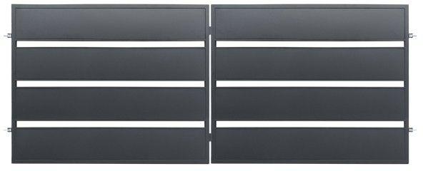 Brama dwuskrzydłowa Polbram Steel Group Leda 400 x 158 cm ocynk antracyt
