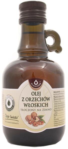 Olej z orzechów włoskich tłoczony na zimno - Oleofarm - 250ml