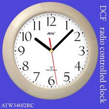 Duży zegar drewniany sterowany radiowo #2