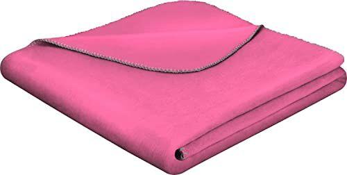 Biederlack narzuta, mieszanka bawełny, różowy, 150 x 200 cm