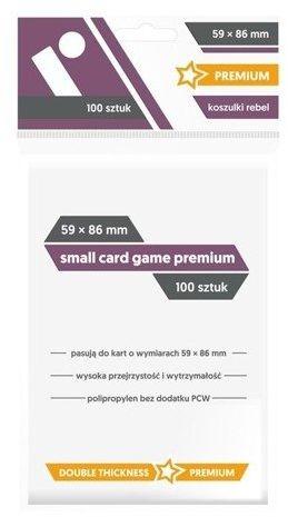 Koszulki na karty Rebel (59x86 mm) Small Card Game Premium 100 sztuk