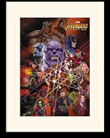 Avengers ramka na zdjęcia z białym uchwytem 30 x 40 cm: Wojna nieskończoności  figurki