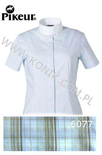 Koszula konkursowa damska - PIKEUR - brązowa kratka