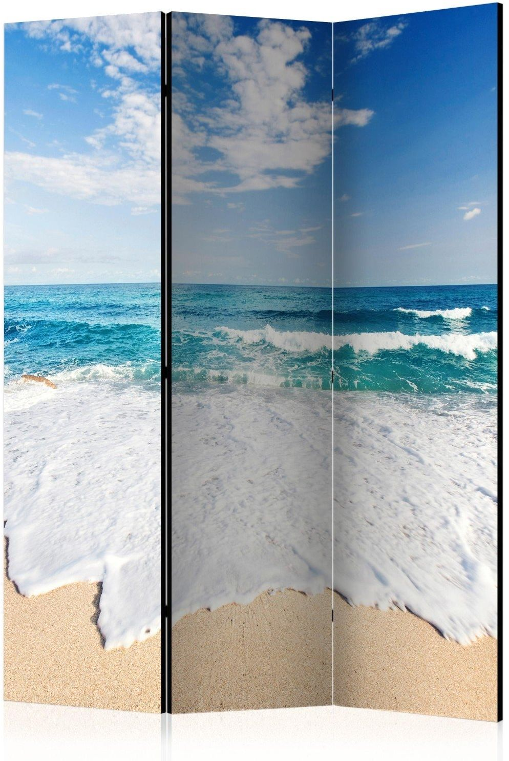 Parawan 3-częściowy - fototapeta - brzegiem morza [room dividers]