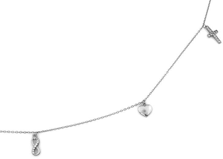 Srebrny naszyjnik 925 celebrytka zawieszki 2,20 g