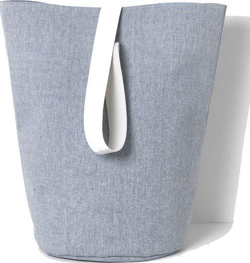 Kosz na pranie chambray 62 cm niebieski