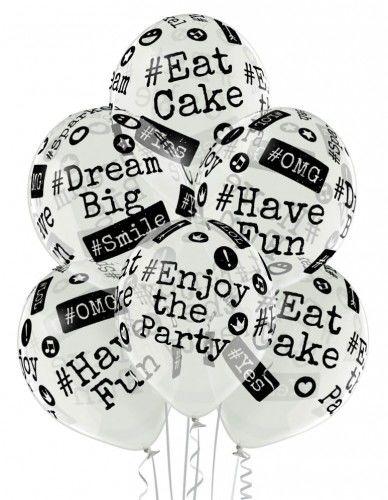 Balon transparentny z Hashtagiem