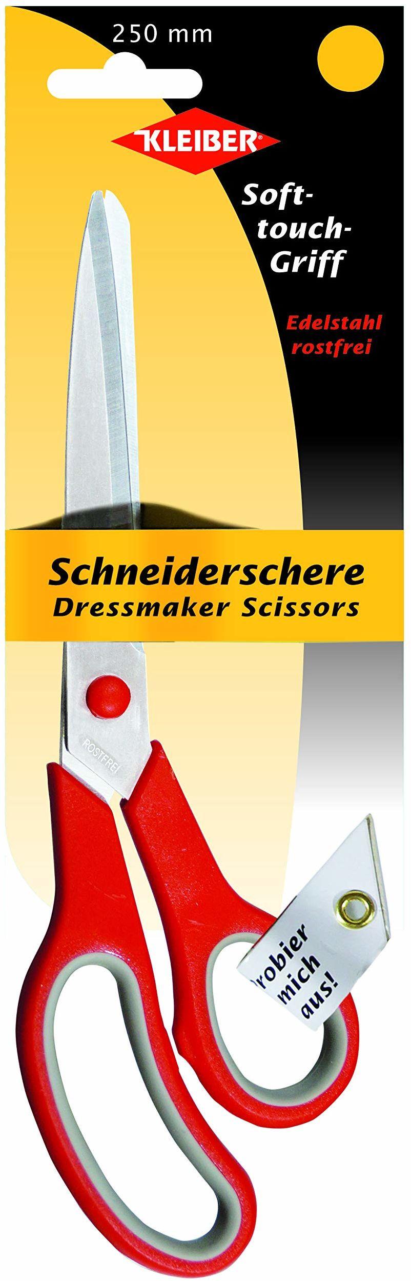 Kleber nożyczki krawieckie, stal, czerwone, 250 mm
