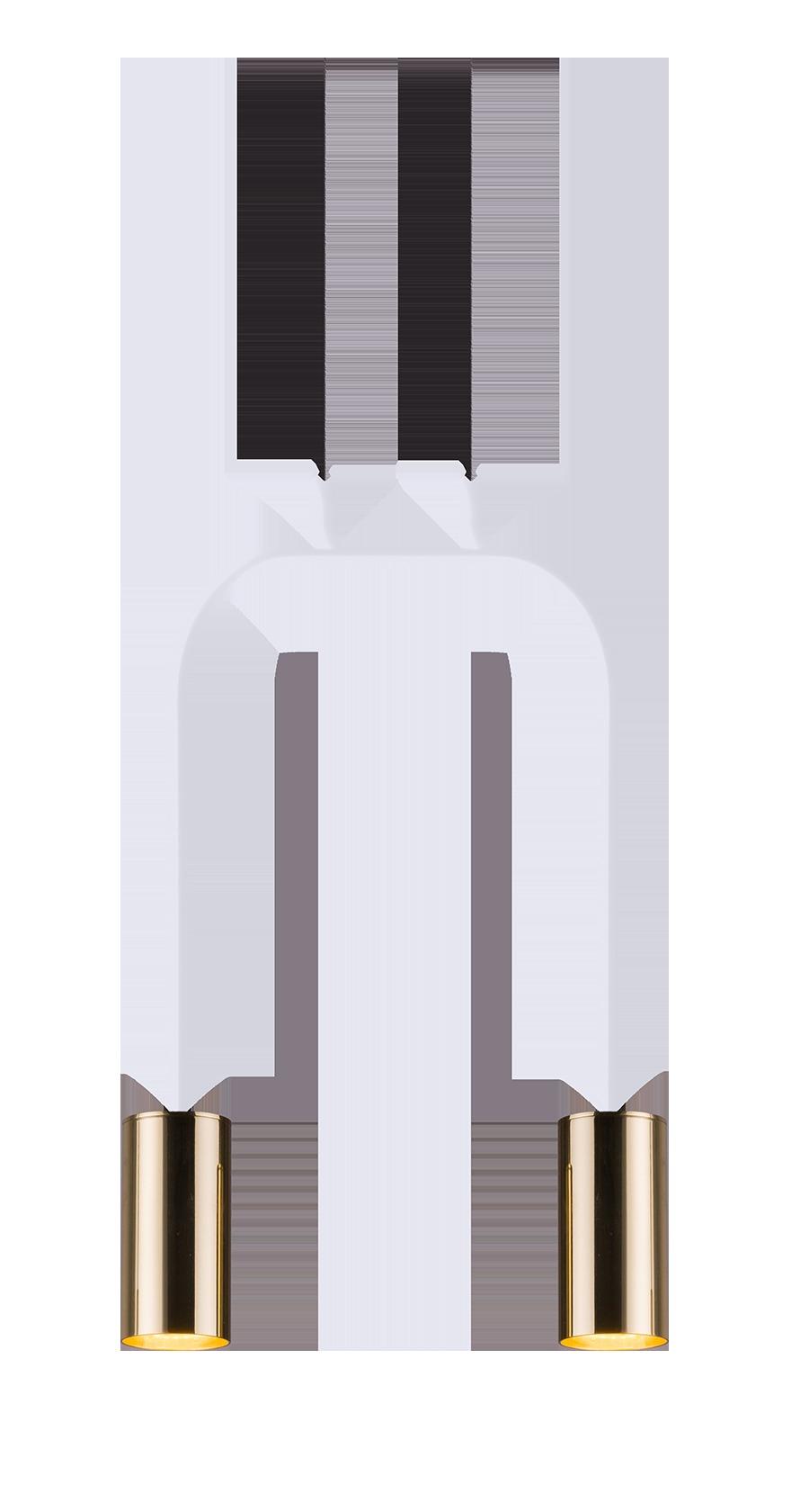 Lampa wisząca Vai 2 Biały 0290 - Amplex // Rabaty w koszyku i darmowa dostawa od 299zł !