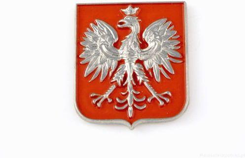 Godło Polski srebrne - magnes
