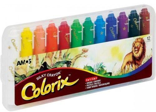 Kredki artystyczne AMOS COLORIX 3w1 12 kolorów CRX5PC12