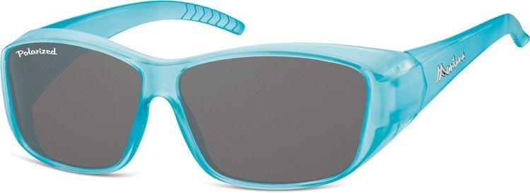 Niebieskie Okulary z Polaryzacją HD Fit Over dla Kierowców, nakładane na Korekcyjne FO4F