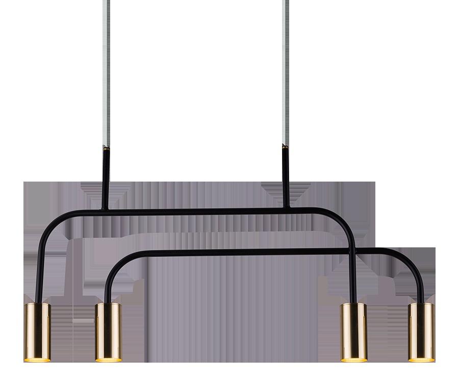 Lampa wisząca Vai 4 Czarny 0287 - Amplex // Rabaty w koszyku i darmowa dostawa od 299zł !