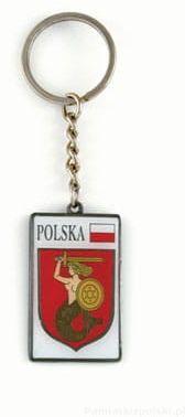 Brelok herb Warszawa metalowy